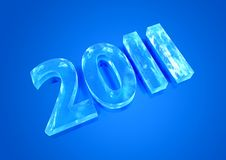 New Year 2011 Ice Figures Royalty Free Stock Photos