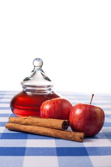 Free Apples And Honey Royalty Free Stock Photo - 16955345