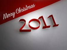 Free Merry Christmas 2011 Stock Images - 16955594
