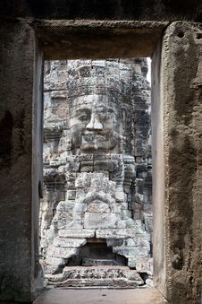 Free Angkor The Bayon Royalty Free Stock Photo - 16955625