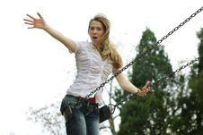 Free Woman At The Playground Stock Photography - 16955682