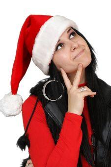 Beautiful Christmas Girl Stock Photos