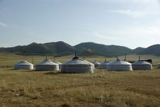 Free Yurt Camp In Mongolia Stock Photos - 16956433