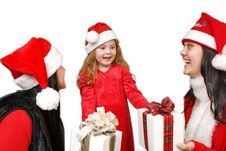 Christmas Group Royalty Free Stock Photo