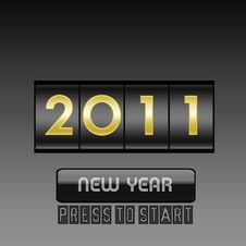 Free New Year  Counter Stock Images - 16956554