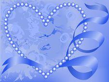 Heart Entwined Ribbon Royalty Free Stock Photos