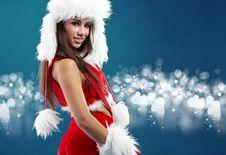 Free Sexy Girl Wearing Santa Claus Clothes Royalty Free Stock Photos - 16956948