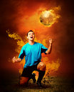 Free Football In Fire Stock Photos - 16966293