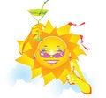 Free Cartoon Sun Royalty Free Stock Photography - 16966447