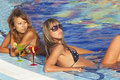 Free Women Enjoying In Swimming Pool Royalty Free Stock Image - 16967506