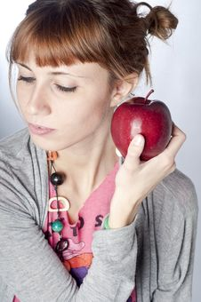 Free Girl With Apple Stock Photos - 16960183