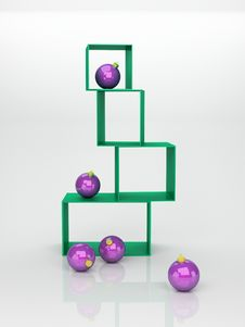 Free Violet Christmas Balls Royalty Free Stock Images - 16960259