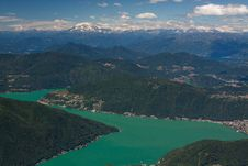 View From Monte Generoso Royalty Free Stock Photos