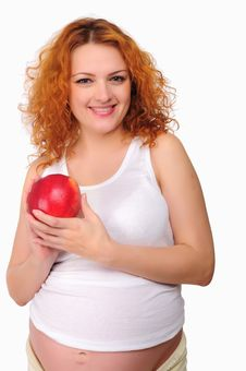 Free Young Redhead Pregnant Mom Stock Photo - 16960420