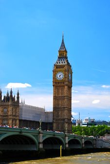 Free Big Ben And Westminster Bridge Royalty Free Stock Photography - 16960497