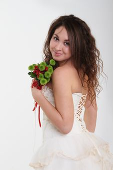 Free Portrait Of The Smiling Bride Royalty Free Stock Photography - 16960877