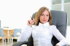Free Young Girl In His Office Stock Photos - 16961033