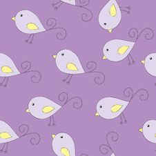 Seamless Illustration With Birds Stock Images