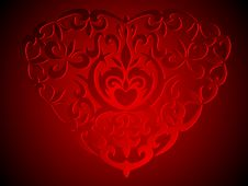 Decoration Heart Background Royalty Free Stock Image