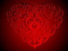 Free Decoration Heart Background Royalty Free Stock Image - 16961406