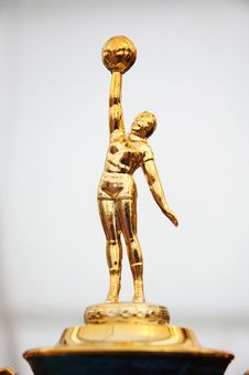 Free Statue On The Trophy Stock Image - 16963181