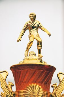 Free Statue On The Trophy Royalty Free Stock Image - 16963186