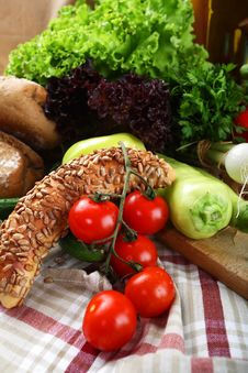 Free Vegetables And Bread Stock Image - 16963831