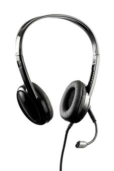 Black Stylish Headphone With Microphone Stock Image