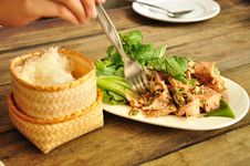 Free Spicy Tuna Salad In Thai Style Royalty Free Stock Image - 16964396