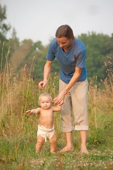 Free Father Walk With Baby Stock Image - 16964531