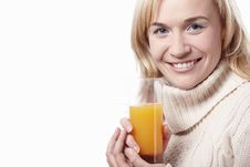 Free Woman With Juice Royalty Free Stock Photos - 16965448