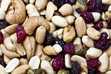 Free Mixed Nuts And Dried Fruits Royalty Free Stock Photo - 16965475