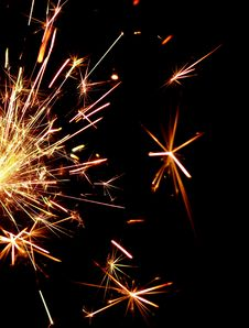 Free Golden Sparkler Royalty Free Stock Images - 16965569