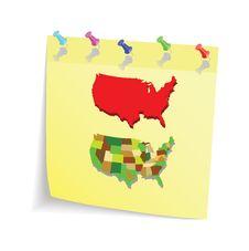 Free U.S. State Of Stationery Sheet Royalty Free Stock Image - 16965626