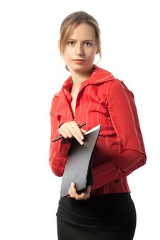 Free Businesswoman With Folder Royalty Free Stock Images - 16966029