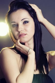 Free Portrait Of A Beautiful Woman Stock Images - 16966114