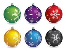Free Beautiful Vector Christmas Balls Stock Image - 16966161