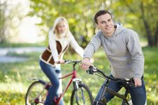 Free Couple On Bicycles Stock Image - 16966291