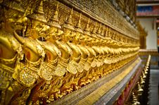 Golden Garuda In Thai Temple. Stock Photography