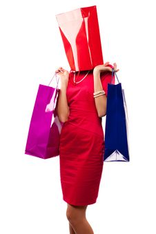 Free Woman And Bag Stock Photography - 16967152