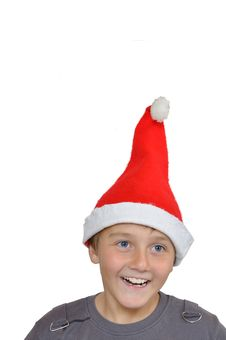 Free Adorable Child With Santa Hat Stock Photo - 16967350