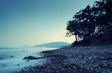 Free Sea Landscape In The Summer Evening Stock Image - 16969061