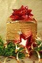 Free Golden Christmas Gift Box Stock Photos - 16973353