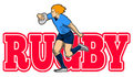 Free Rugby Player Running With Ball Stock Images - 16979184
