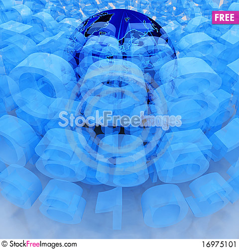 Free Digital World Stock Image - 16975101