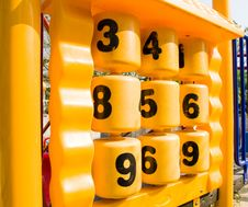 Numberballs At The Playground, Stock Images