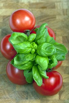 Free Tomatoes And Basil Stock Images - 16970444