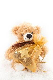 Free Teddy-bear With Christmas Gifts Stock Photo - 16971510