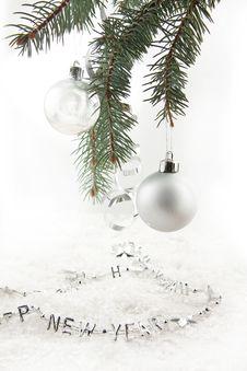 Free Silver Christmas Balls Stock Photos - 16971513