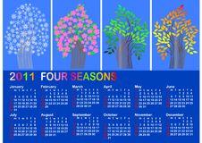 Free Calendar For 2011. American Style. Vector. Stock Photos - 16972303